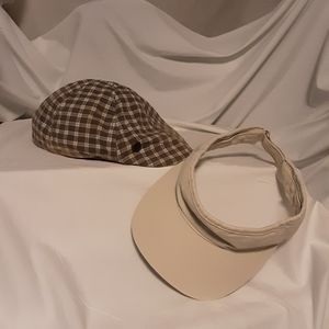 A golfer's cap & visor